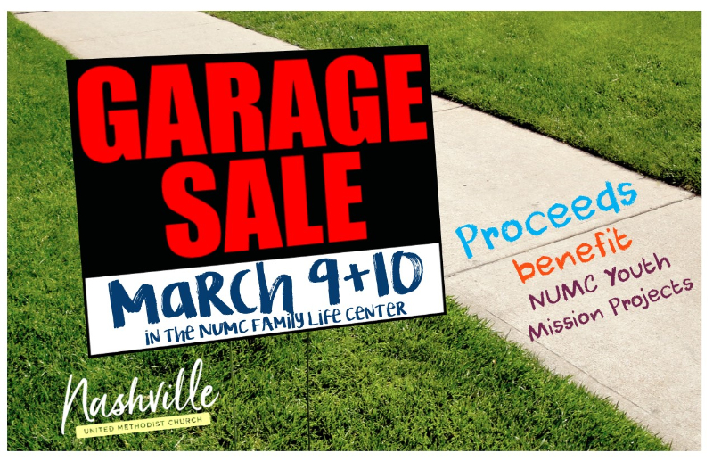 Garage Sale – Nashville United Methodist Church